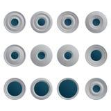 Sistema de los botones blancos azules para Internet Libre Illustration