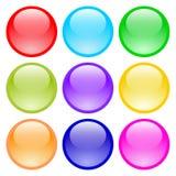 Sistema de los botones de cristal libre illustration