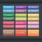 Sistema de los botones del web de la pendiente Fotografía de archivo libre de regalías