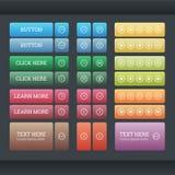 Sistema de los botones del web de la pendiente Foto de archivo libre de regalías