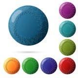 Sistema de los botones multicolores hermosos para su diseño del sitio web Vector libre illustration