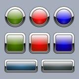 Sistema de los botones multicolores para los elementos del web Ilustración del vector stock de ilustración