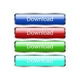 Sistema de los botones para el sitio web Fotos de archivo libres de regalías