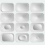 Sistema de los botones rectangulares blancos libre illustration