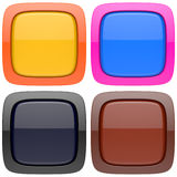 Sistema de los botones vacíos abstractos 3d Imagenes de archivo