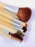 Sistema de los cepillos para el maquillaje Imágenes de archivo libres de regalías