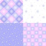 Sistema de los copos de nieve simples, planos del estilo, modelos de la nieve del punto libre illustration