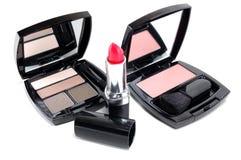 Sistema de los cosméticos para las mujeres Fotografía de archivo libre de regalías