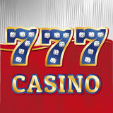 Sistema de los dados del casino Fotografía de archivo libre de regalías
