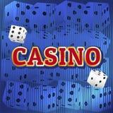 Sistema de los dados del casino Fotos de archivo
