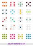 Sistema de los dados del color Foto de archivo libre de regalías