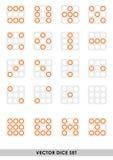 Sistema de los dados del vector Fotografía de archivo