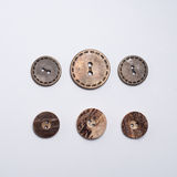 Sistema de los diversos botones para la ropa imágenes de archivo libres de regalías