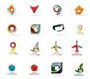 Sistema de los diversos iconos geométricos - rectángulos Fotos de archivo