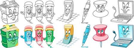 Sistema de los efectos de escritorio de la oficina libre illustration