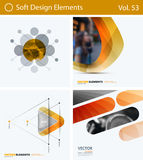 Sistema de los elementos abstractos del diseño del vector para la disposición gráfica Plantilla moderna del fondo del negocio fotos de archivo