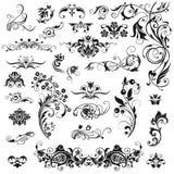 Sistema de los elementos caligráficos para el diseño Fotografía de archivo libre de regalías