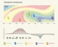 Sistema de los elementos de Infographic de la tipografía Foto de archivo libre de regalías