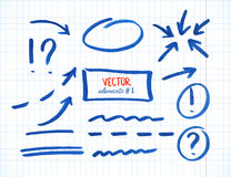 Sistema de los elementos de la corrección y del punto culminante, parte 1 ilustración del vector