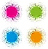 Sistema de los elementos de semitono del diseño del vector de los marcos del círculo Imagen de archivo