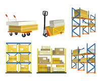 Sistema de los elementos de Warehouse Imagen de archivo