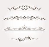 Sistema de los elementos del diseño floral y de la decoración de la página Imágenes de archivo libres de regalías