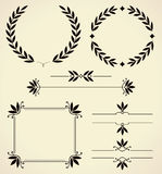 Sistema de los elementos del diseño y de la decoración de la página. Fotografía de archivo libre de regalías
