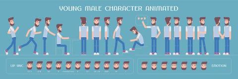 Sistema de los elementos del vector para el hombre, la creación del carácter del individuo y la animación Imagen de archivo libre de regalías