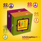 Sistema de los elementos para el infographics en la forma Imagenes de archivo