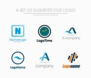 Sistema de los elementos para el logotipo Fotografía de archivo