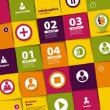 Sistema de los elementos para infographic de Foto de archivo libre de regalías