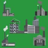 Sistema de los elementos para la construcción de la ciudad Fotografía de archivo libre de regalías