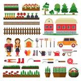 Sistema de los elementos para la horticultura Edificio agrícola Imagenes de archivo