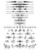 Sistema de los elementos y de la decoración caligráficos del diseño Fotografía de archivo libre de regalías