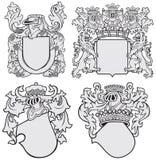 Sistema de los emblemas aristocráticos No11 Fotos de archivo libres de regalías