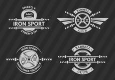 Sistema de los emblemas de los deportes, logotipos, símbolos Fotos de archivo libres de regalías