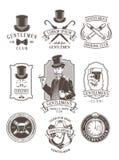 Sistema de los emblemas del caballero del vintage, etiquetas Imágenes de archivo libres de regalías