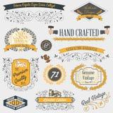 Emblemas y etiquetas del vintage Foto de archivo libre de regalías