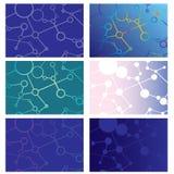 Sistema de los fondos abstractos de líneas y de círculos de intersección Foto de archivo libre de regalías