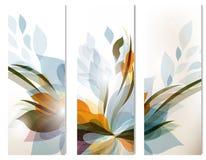 Sistema de los fondos coloridos del extracto del vector para el diseño Foto de archivo libre de regalías