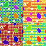 Sistema de los fondos coloridos inconsútiles de pascua