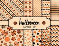 Sistema de los fondos de Halloween Foto de archivo libre de regalías