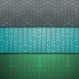 Sistema de los fondos inconsútiles para los sitios web de los elementos de cristal Fotografía de archivo