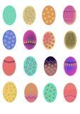 Sistema de los huevos de Pascua Fotografía de archivo libre de regalías