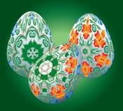 Sistema de los huevos de Pascua Fotos de archivo