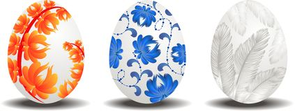 Sistema de los huevos de Pascua ilustración del vector