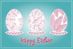 Sistema de los huevos de Pascua Imagenes de archivo