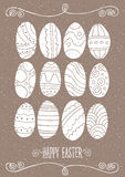 Sistema de los huevos de Pascua Imágenes de archivo libres de regalías