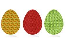 Sistema de los huevos de Pascua con el modelo inusual Foto de archivo