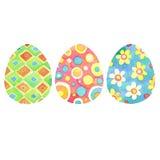 Sistema de los huevos de Pascua dibujados mano brillante de la acuarela ilustración del vector